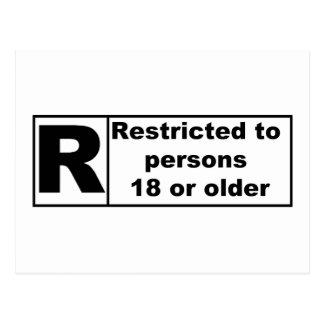 R-Rating Postcard