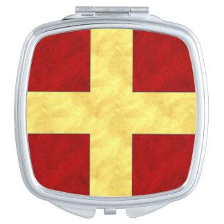 R Romeo Watercolor Nautical Signal Maritime Flag Travel Mirrors