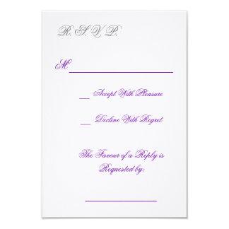 R.S.V.P. CARD