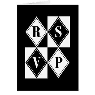 R.S.V.P. : Elegant Diamonds : Greeting Cards