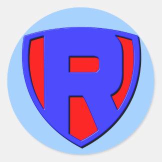 R ROUND STICKER