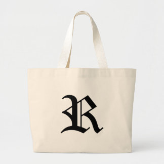 R-text Old English Large Tote Bag