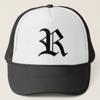 R-text Old English Trucker Hat