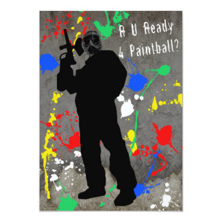 R U Ready 4 Paintball? Card