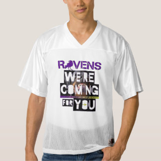 R💜vens are Coming for You! Men's Football Jersey