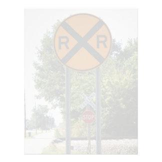 R X R - Railroad Crossing Sign Flyer