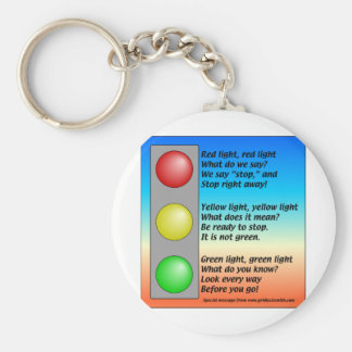 R-Y-G-lights Basic Round Button Key Ring