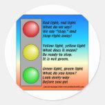 R-Y-G-lights Classic Round Sticker