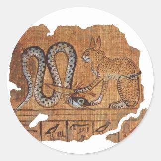 Ra and Apophis blk Classic Round Sticker