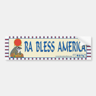 Ra Bless America bumper sticker