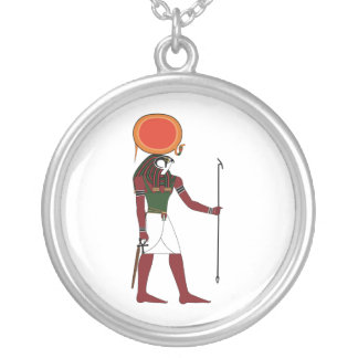 Ra the Ancient Egyptian God of the Sun and Kings Silver Plated Necklace
