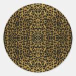 RAB Rockabilly Leopard Print Gifts Round Sticker