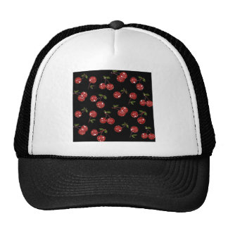 RAB Rockabilly Very Cherry Cherries On Black Cap