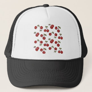 RAB Rockabilly Very Cherry Cherries On White Trucker Hat
