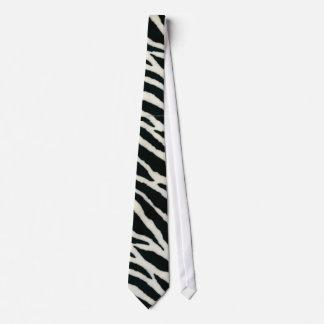 RAB Rockabilly Zebra Print Black & White Tie