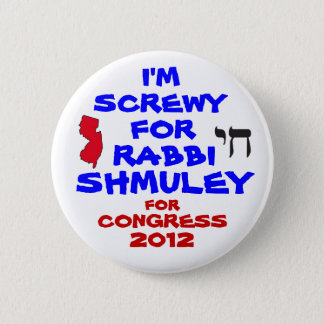Rabbi Schmuley Boteach for Congress 6 Cm Round Badge