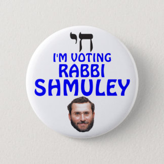 Rabbi Shmuley Boteach for Congress 6 Cm Round Badge