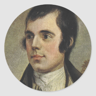 Rabbie Burns Round Sticker