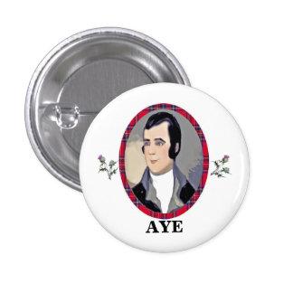 Rabbie Burns Tartan Aye Pinback 3 Cm Round Badge