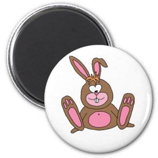 rabbit 6 cm round magnet