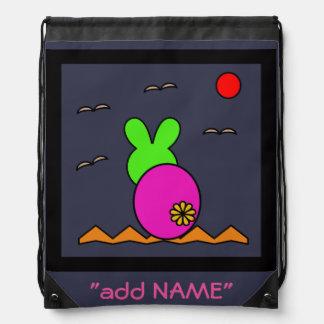 Rabbit abstract art for kids rucksack