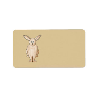 Rabbit. Address Label
