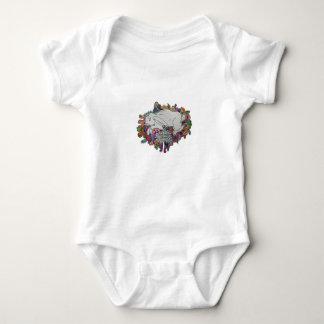 rabbit and daisy baby t baby bodysuit