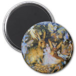 Rabbit and fairies vintage fairy tale art. 6 cm round magnet