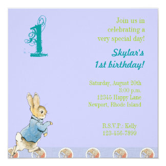 Rabbit and Friends Birthday Card