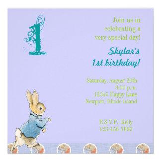 Rabbit and Friends Birthday Personalized Invitation