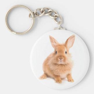 Rabbit Basic Round Button Key Ring