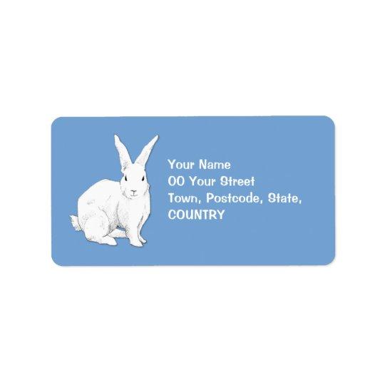 Rabbit blue Address Label
