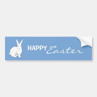 Rabbit blue Easter Bumper Sticker