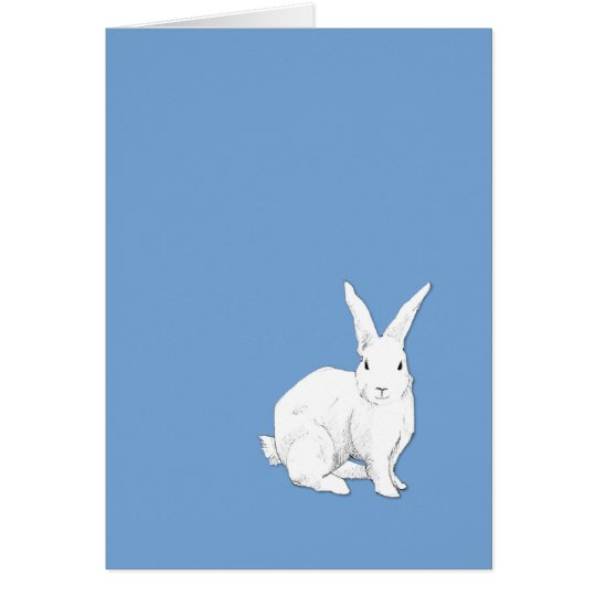 Rabbit blue Note Card