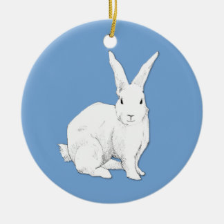Rabbit blue Ornament