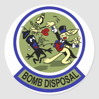 Rabbit Bomb Disposal Round Sticker
