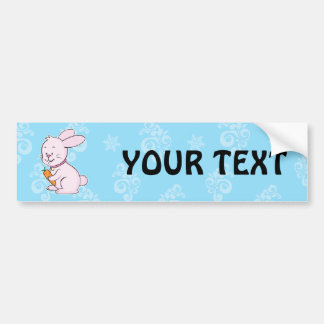 Rabbit bumper sticker car bumper sticker