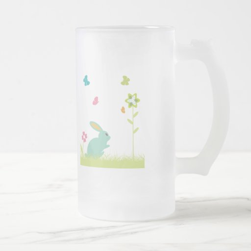 Rabbit ~ Bunny and Flowers Customize Template Coffee Mugs