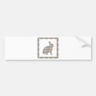 RABBIT Bunny CRYSTAL Jewel NVN454 KIDS LARGE  fun Car Bumper Sticker