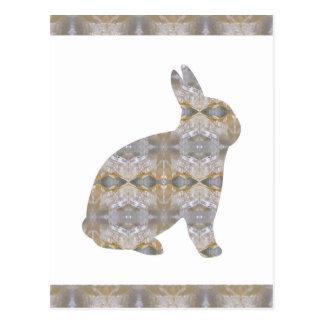 RABBIT Bunny CRYSTAL Jewel NVN454 KIDS LARGE  fun Postcard