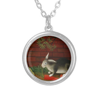 Rabbit by Henri Rousseau Silver Plated Necklace