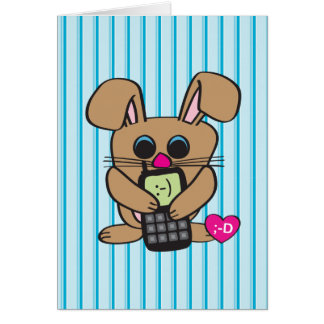Rabbit - Cell phone - Card