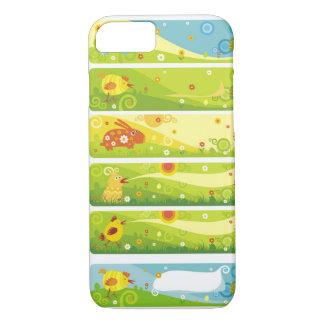 rabbit chicken cartoon characters iPhone 7 case
