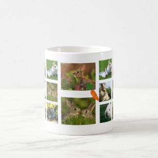 Rabbit Collage Photo Mug (Round)