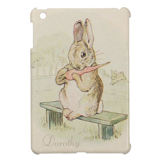 RABBIT EATING A CARROT, LOVELY BUNNY IPAD COVER