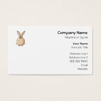 Rabbit Eating a Dandelion. Business Card