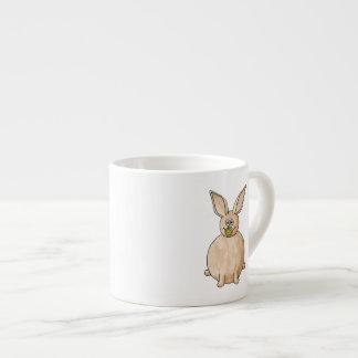 Rabbit Eating a Dandelion. Espresso Cup
