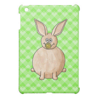 Rabbit eating a flower. cover for the iPad mini
