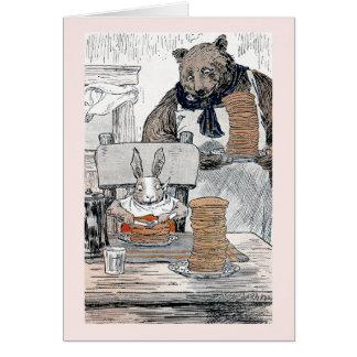 Rabbit Eating Pancake Breakfast Card