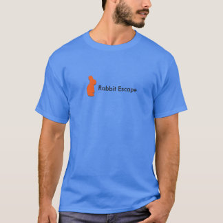 Rabbit Escape logo+name t-shirt (blue)